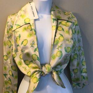 Dolce & Gabbana silk crop shirt. New